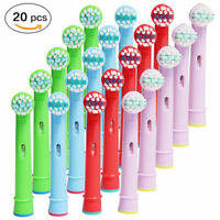 20x Replacement Heads Fit For Oral-B Stages Kids Childrens Electric Toothbrush