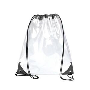 Transparent Clear PVC Drawstring Waterproof Stadium Bag Backpack UK