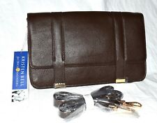 Kristen Bell for Erica Anenberg Brown Pebbled Leather Clutch Crossbody Bag NWT