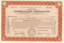 Kaiser Frazer > Nevada auto stock certificate share