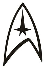 2 x Star Trek vinyl sticker decal logo spock vulcan enterprise car skin ipad
