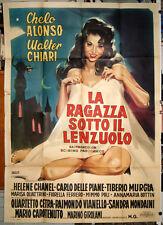 Chelo Alonso LA RAGAZZA SOTTO IL LENZUOLO manifesto 4F originale 1960
