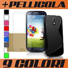 COVER per GALAXY S4 i9500 SAMSUNG + PELLICOLA ; COVER CASE SILICONE TPU OFFERTA