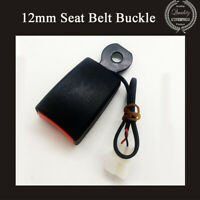 95MM Camlock Car Front Seat Belt Buckle Socket Plug Connector w/ Warning Cable