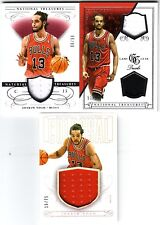 2013-14 National Treasures Joakim Noah 3-Card Jersey Lot: Dual Jersey, Jersey x2