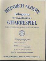 Lehrgang des künstlerischen Gitarrenspiels  von Heinrich Albert 1. Teil Abt. B