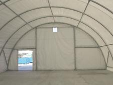 Rundbogenzelt -halle Lagerhalle Lagerzelt 9,15Bm x 20mL 4,5mH PVC weiß 720g/m²