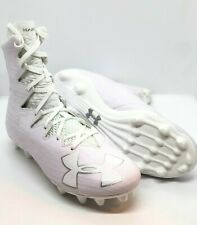 1ed8964442f UNDER ARMOUR HIGHLIGHT MC FOOTBALL CLEATS WHITE SILVER NEW 1297358-100  MSRP 130