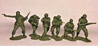 Plastic Platoon Vietnam War 25th Infantry Division Rubber material 1/32