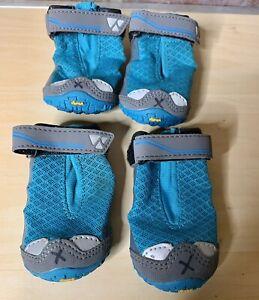 "Ruffwear Grip Trex Dog Boots Blue Spring Lot Set Of 4 Size 2.5"" All Terrain Shoe"