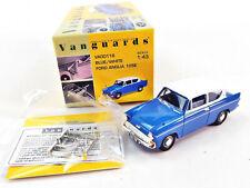 Corgi Lledo Vanguards VA00116 Modellauto Ford Anglia 105E Blue White 1:43