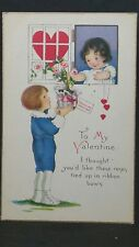To My Valentine I Thought You'D Like These Roses Unused Qs Series1403A Post Card