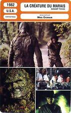 Fiche Cinéma Movie Card. La créature du marais/Swamp thing (USA) 1982 Wes Craven
