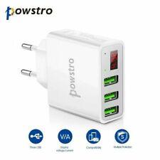 3 fach 3-Port USB Schnell Ladegerät Netzteil Wand Ladeadapter für Handy Tablet