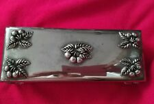 VINTAGE GODINGER JEWELRY BOX SILVER PLATED  CHERRIES