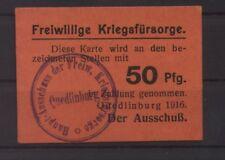 [19451] - NOTGELD QUEDLINBURG, Ausschuß der Freiwilligen Kriegsfürsorge, 50 Pf,