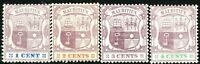 Mauritius 1895 part set crown CA perf 14 mint SG127/128/129/130 (4)