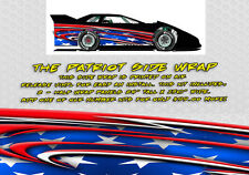 The Patriot Dirt Late Model, Dirt Modified Race Car Side Wrap American Flag
