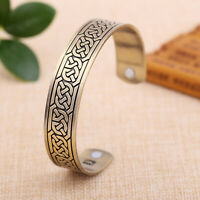 Celtic Knot Magnetic Bracelet Irish Knot Infinity Viking Cuff Bangle for Men