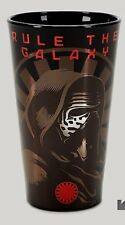 """Star Wars The Force Awakens PINT GLASS BEER WATER """"RULE THE GALAXY"""" KYLO REN NEW"""