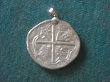 SHIPWRECK SILVER COIN PENDANT COB PIECE OF EIGHT COBBO DE BAR 925 BAIL FREE SHIP