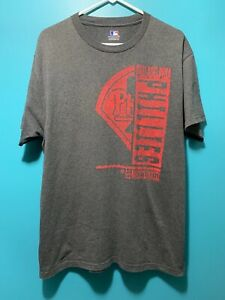 MLB Official Philadelphia Phillies Short Sleeve Gray/Red T-Shirt Adult Size L