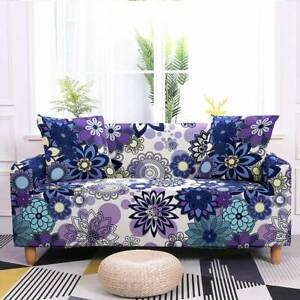 Bohemian Floral Stretchy Sofa Covers Comfort Slipcover Couch Cover Protector