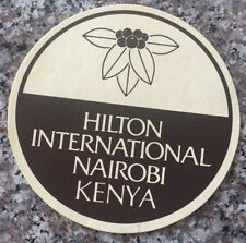 "Kenya Nairobi Hotel Sticker Vintage 4"" 1980's Hilton International"