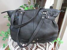 The Sak - Black Peace  Shoulder Bag Leather large tote handbag-12x12