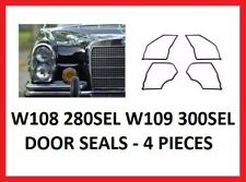 Mercedes Benz W108 280 SEL W109 300 SEL Door Seal Set 4 Pieces