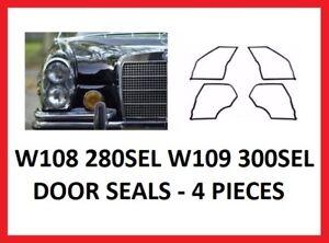 Mercedes W108 280SEL W109 300SEL Door Seals Weathership Gasket Set