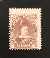 Stamps Canada Newfoundland Sc42 1c grey brown Prince of Wales-See description