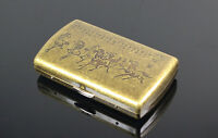 Pocket Cigarette Tobacco cigar Metal copper ALLOY Storage Case Box Holder BJT