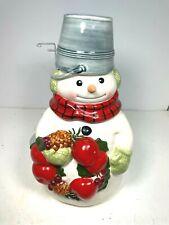Vintage Hallmark Christmas Snowman Mitford Cookie Jar Jan Karon
