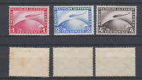 GERMAN REICH 1928 Zeppelin Mint * C35-C37 (Mi.423-4/455)