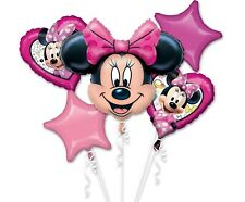 Happy Birthday Minnie Maus Ballonstrauß ungefüllt