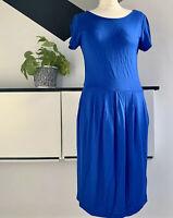 JAEGER Dress Size 10  BLUE | SMART Occasion WEDDING Cruise RACES POCKETS Work