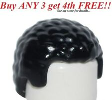 ☀️NEW Lego Minifig Hair Male boy BLACK with Coiled Texture Mini Afro minifigure