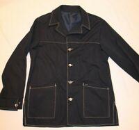 Vintage 70s Haggar Leisure Jacket Shirt Navy Disco Western Mens