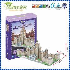 3D Educator puzzle Buliding model Lomonosov Moscow State University(Russia)