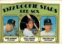 1972 Topps #79 Mike Garman/Cecil Cooper/Carlton Fisk EX/EX+ RC Rookie Red Sox Re