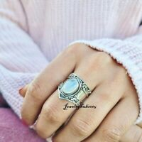 Moonstone Ring 925 Sterling Silver Ring Meditation Ring All Size mis660