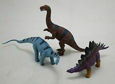 Geoworld Dinosaurs Lot Of 3 Diplodocus Stegosaurus Plateosaurus