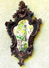 Antique Ornate Painted Gilt Plaster Framed Mirror Italy