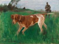 Painting Bruno Liljefors Gustaf Kolthoff Hunting Dog 1888 Canvas Art Print