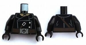 LEGO - Minifig Torso Jacket w/ Brown Strap & Silver Buttons - Hydra Belt Buckle