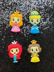 10 x Rubber Disney Princess Flatback Bows Scrapbooking Craft Embellishment