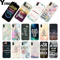 Jesus Christian Inspiration Bible Verse case cover for iphone 6 7 8 X XS MAX XR