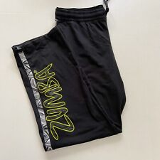 Zumba Exercise Black and Neon Green Women's Athletic Pants Size Large