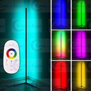 LED Corner Floor Lamp Light Stand RGB Colours Remote Control Boys Girls Bedroom